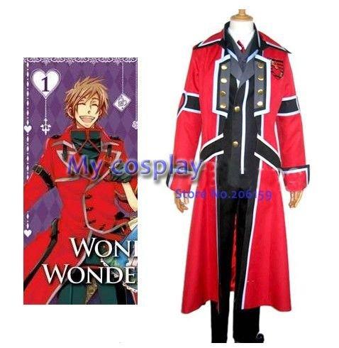 Wonderful Wonder World Alice Men's Cosplay Costume Male costume Halloween Costumes Men Clothes-- Freeshipping