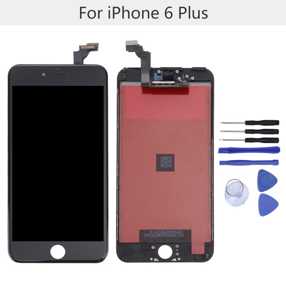 """Reemplazo de la pantalla LCD de 5,5 """"con kits de herramientas para el iPhone 6 Plus pantalla LCD montaje digitalizador de pantalla táctil envío gratis"""