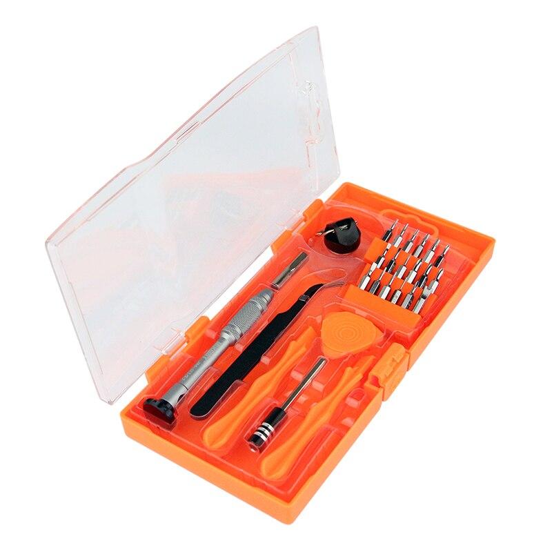 Juego de destornilladores de precisión JAKEMY, pinzas, juego de herramientas de apertura para iPhone Samsung, kit de herramientas de reparación de teléfonos electrónicos