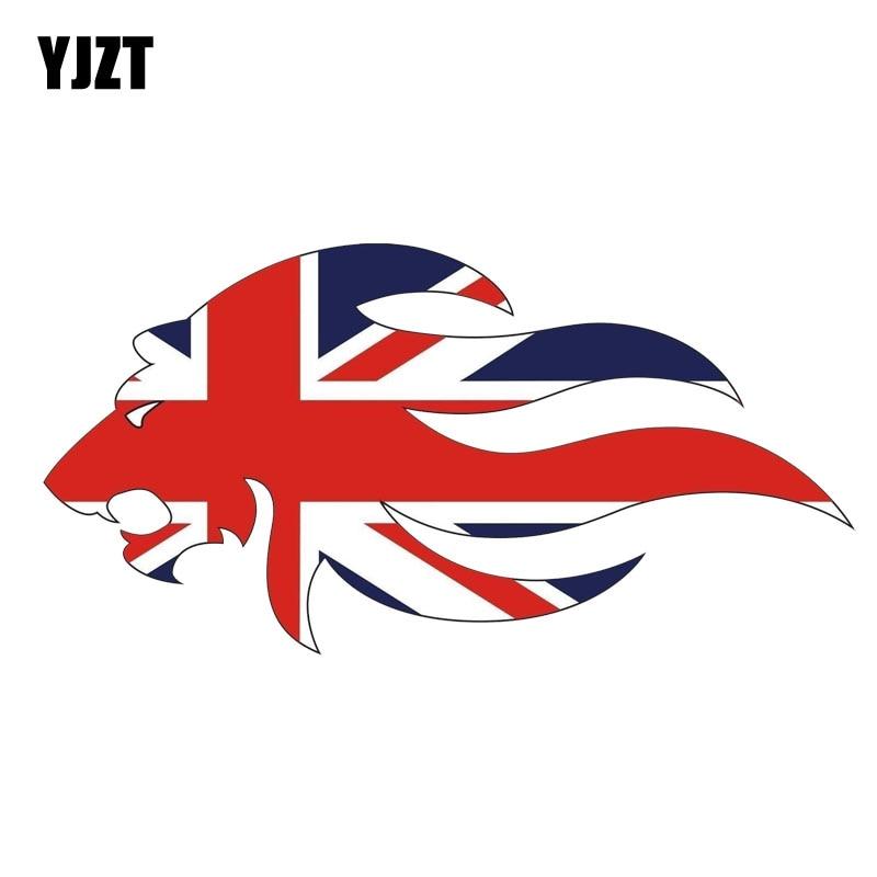 YJZT 8,5 CM * 16,8 CM personalidad Gran Bretaña Unión Jack León coche pegatina PVC 12-1555