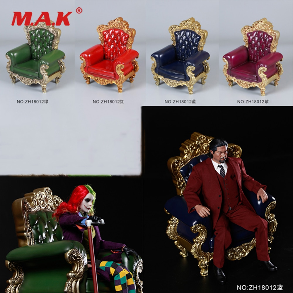 Accesorio de figura ZH18012 1/6 escala 4 colores solo sofá figura 3,0 rojo/verde/azul/púrpura sofá modelo de juguete para muñecas de 12 pulgadas