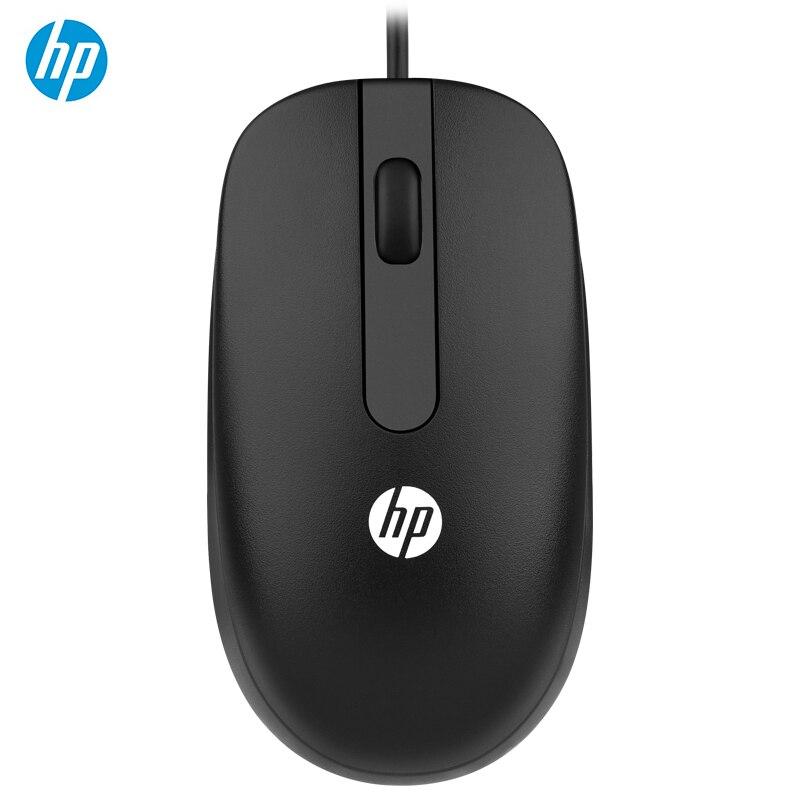 Ratón con cable HP 1000 DPI, ordenador portátil, juegos, oficina, hogar, negocios, ratón USB