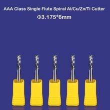 5 pièces De Coupe En Aluminium Endmilling Simple Cannelure CNC Fraises 3.175mm DEC 1/8