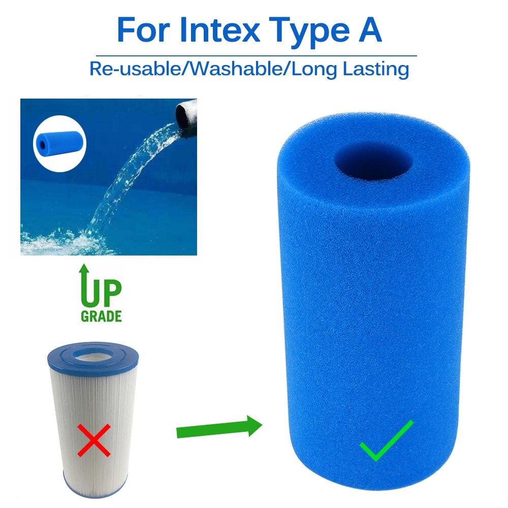 Бассейн пенный бассейн каркасный басейн фильтр губка Intex Тип Многоразовые