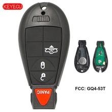 Reemplazo Keyecu mando a distancia para vehículos RAM que usan 4 botones Fobik FCC GQ4-53T