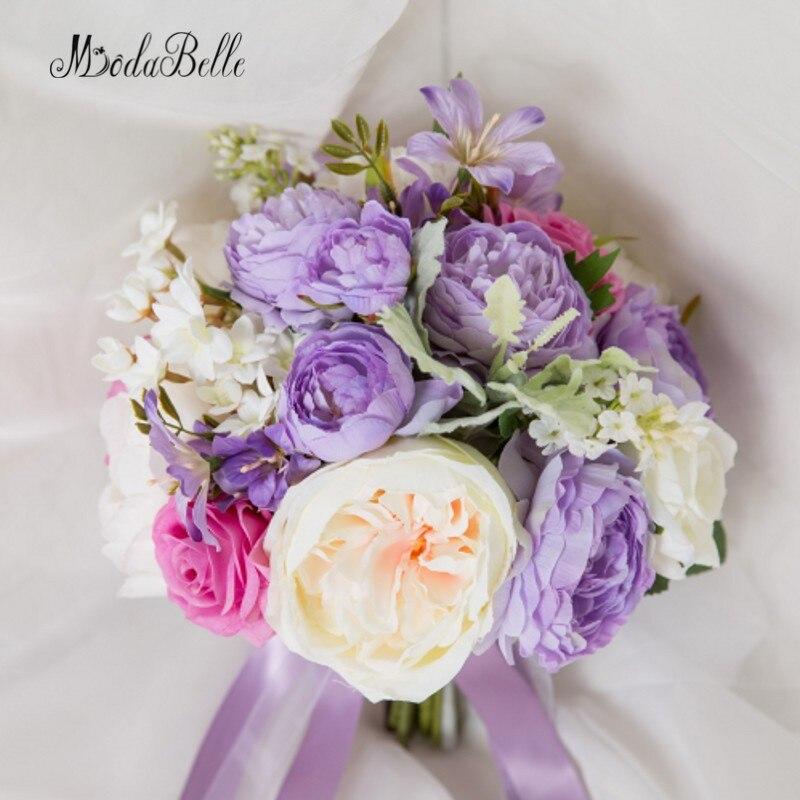 Свадебный букет для невесты modabelle искусственный из роз и пионов bridal bouquet wedding