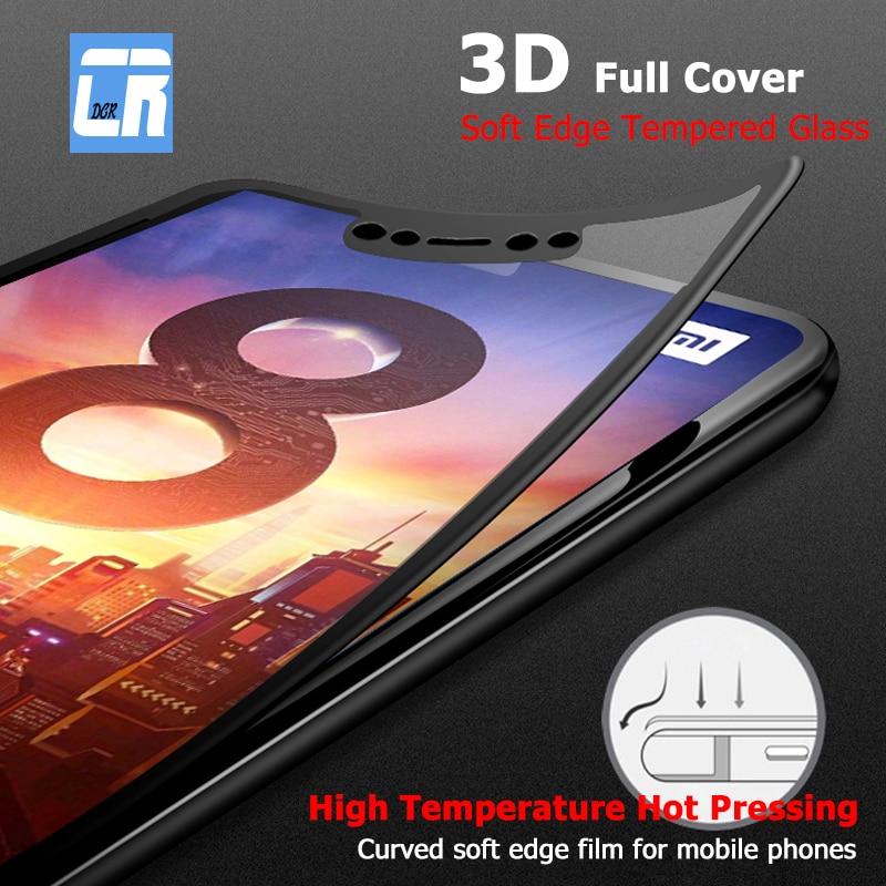 3D полное покрытие мягкий край закаленное стекло для Xiaomi 6X 8 8SE A2 Lite Защитная пленка для экрана для Redmi S2 5 6 6A Pro Note 5 Plus 4X