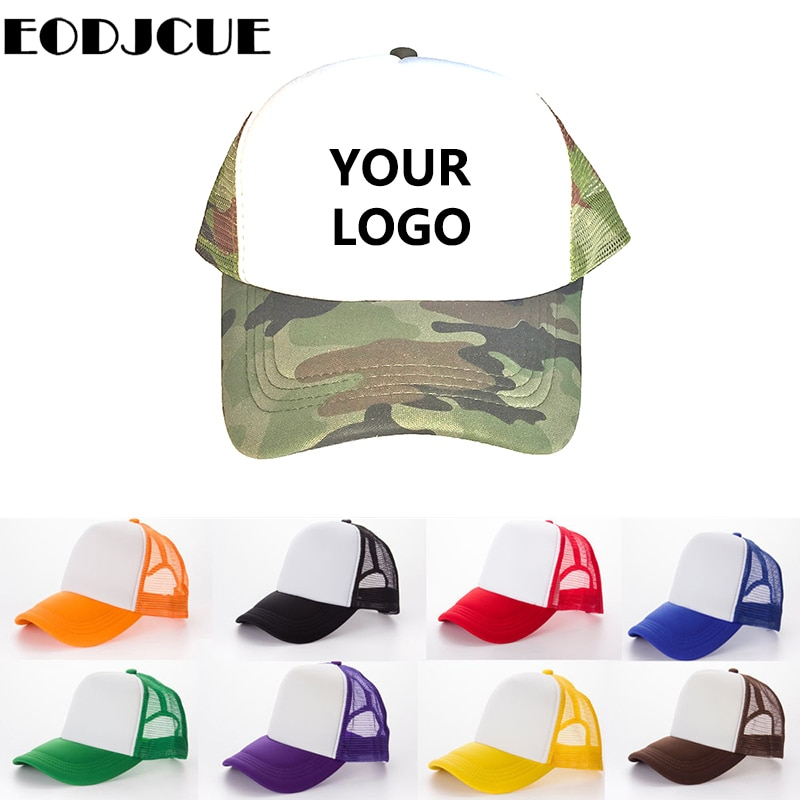 10 Pcs/lot Factory Custom Baseball Caps Free DIY Personal Design LOGO Image Text Adult Kid Child Blank Mesh Hats Trucker Cap