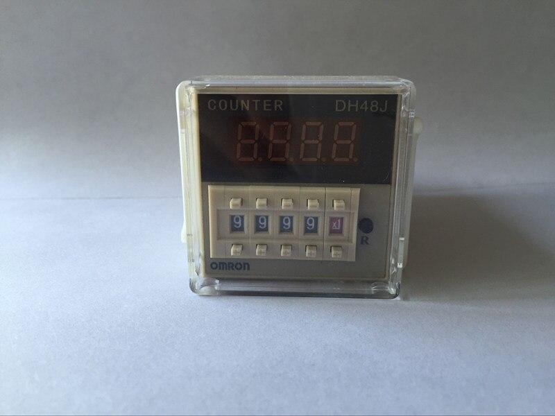 380VAC50/60 Гц 97*48*48 мм Цифровой предустановленный счетчик реле 1-999900 светодиодный дисплей 8 pin панель установлена DH48J SPDT