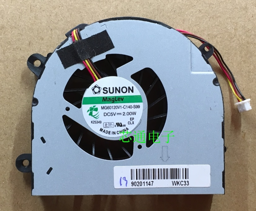 Original for Lenovo G770 G780 Laptop CPU cooling fan Sunon MG60120V1-C140-S99