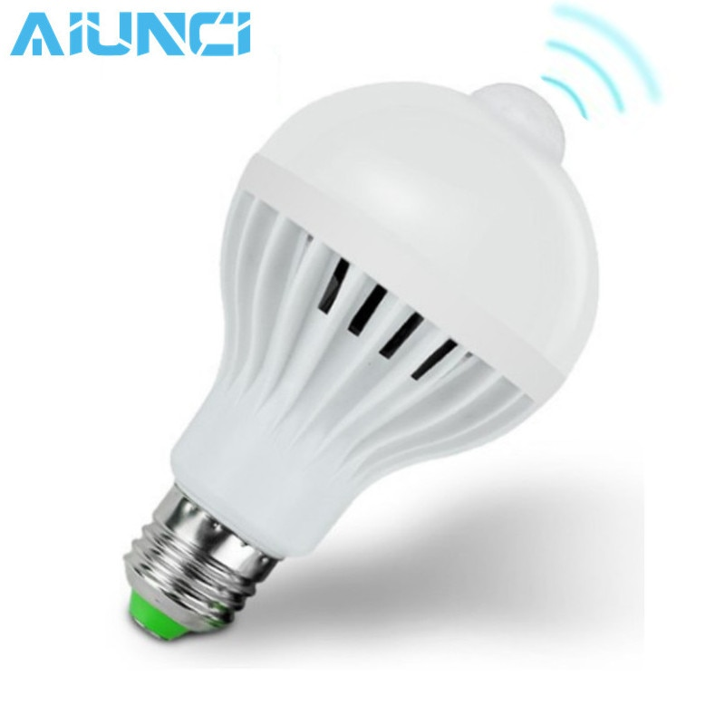 E27 with pir Motion Sensor Lamps 5W 7W 9W Energy Saving LEDs Bulbs Auto Smart Led PIR Infrared Body Sound Light