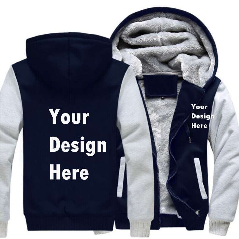 Wholesale Price Custom Logo Print Men Hoodie Fleece Hooded Zip Casual Sweatshirts Sportwear Drop shipping
