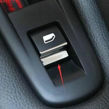 BJMYCYY Car styling 7PCS/SET ABS window lift buttons decorate sequins For Peugeot 508 Citroen C5 accessories