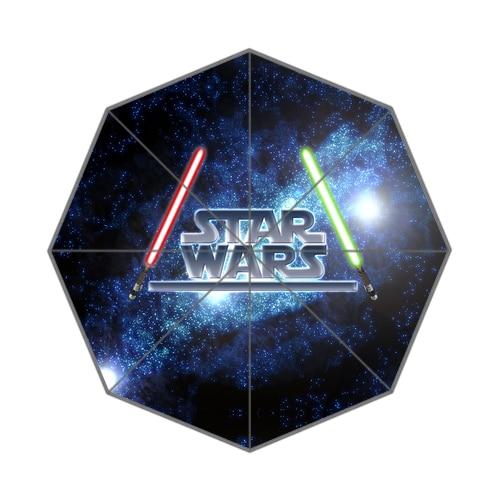 2015 gran oferta Custom Star Wars alta calidad tres paraguas plegable soleado y lluvioso UMN16