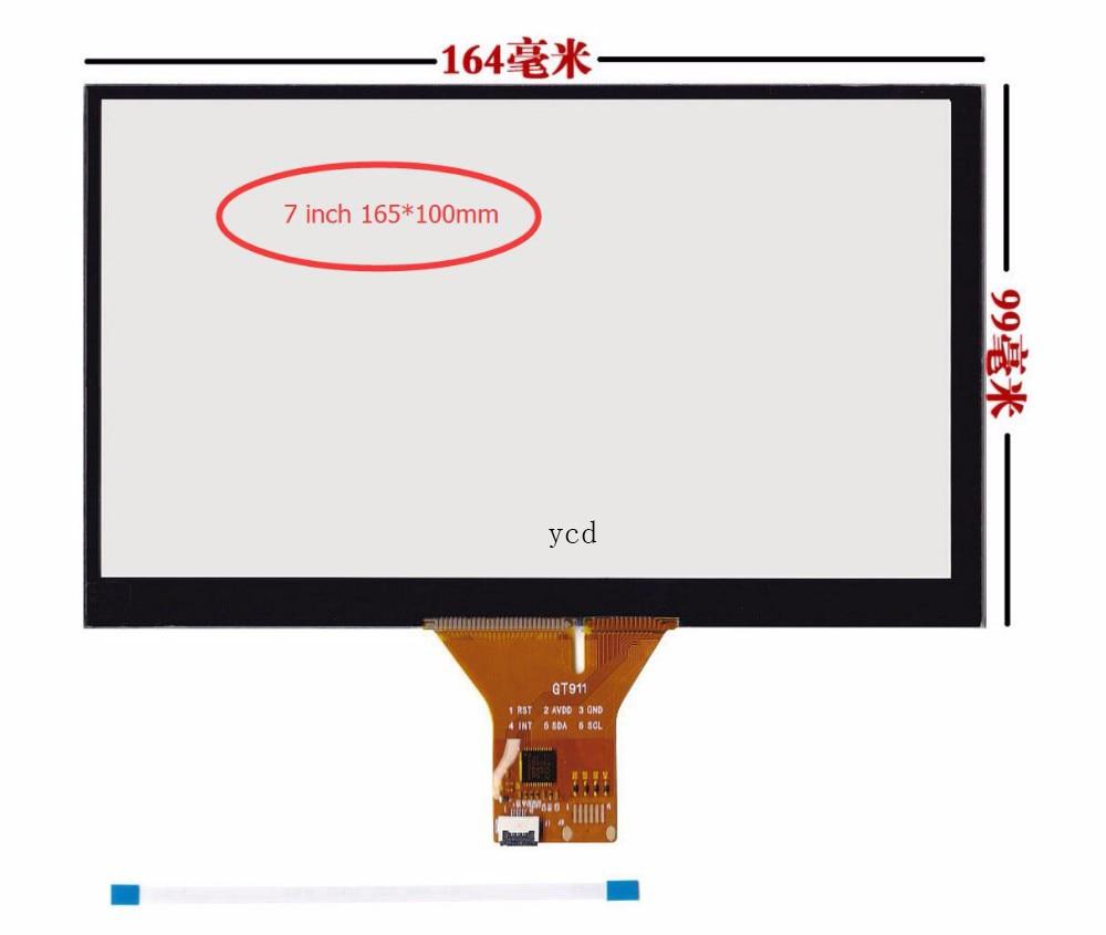 Navegación DVD para coche, pantalla táctil capacitiva de 7 pulgadas/6 pines GT911/165x99/165x100mm, pantalla táctil de 6 líneas, cable plano
