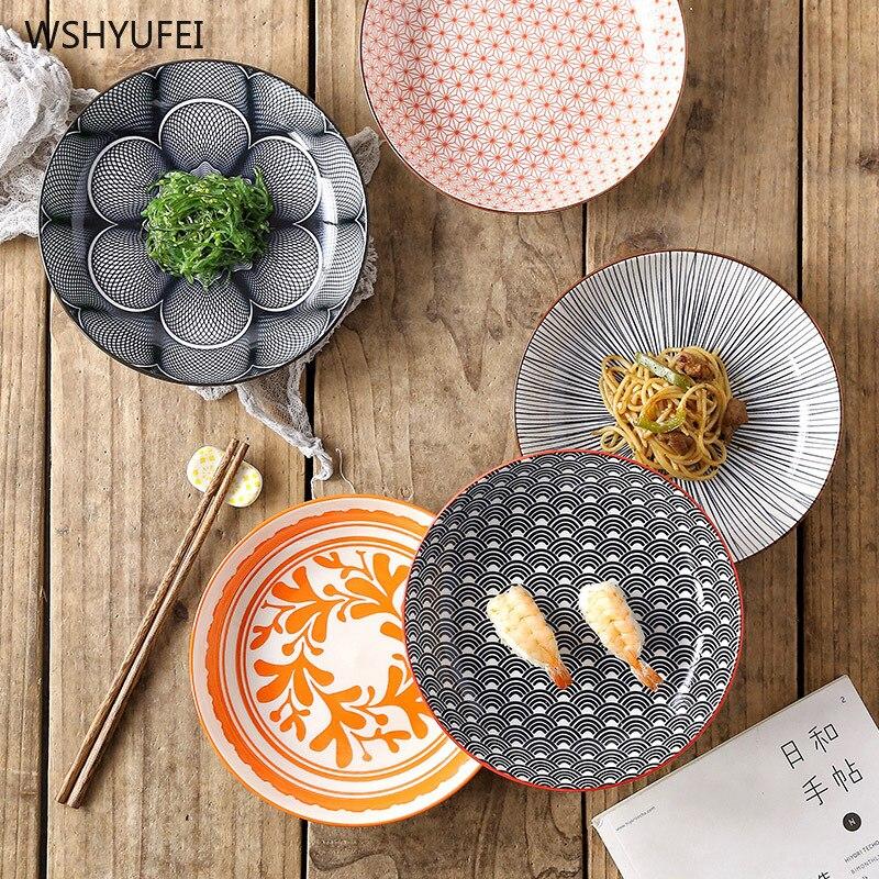 أدوات مائدة سيراميك مزججة, أدوات مائدة مطبوعة بألوان إبداعية للتسويق المباشر للمنزل والمطعم