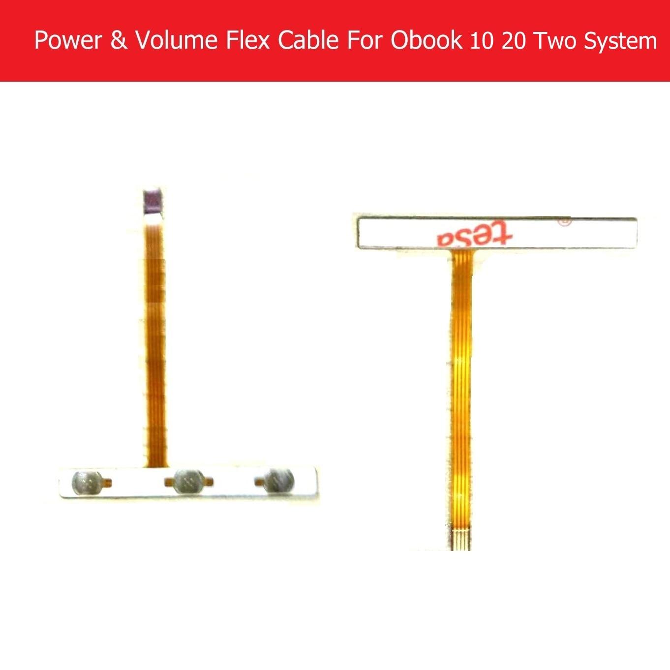 Original power & volume cabo flexível para onda obook 10 20 sistema duplo interruptor chave lateral do teclado interruptor de botão cabo flexível substituição