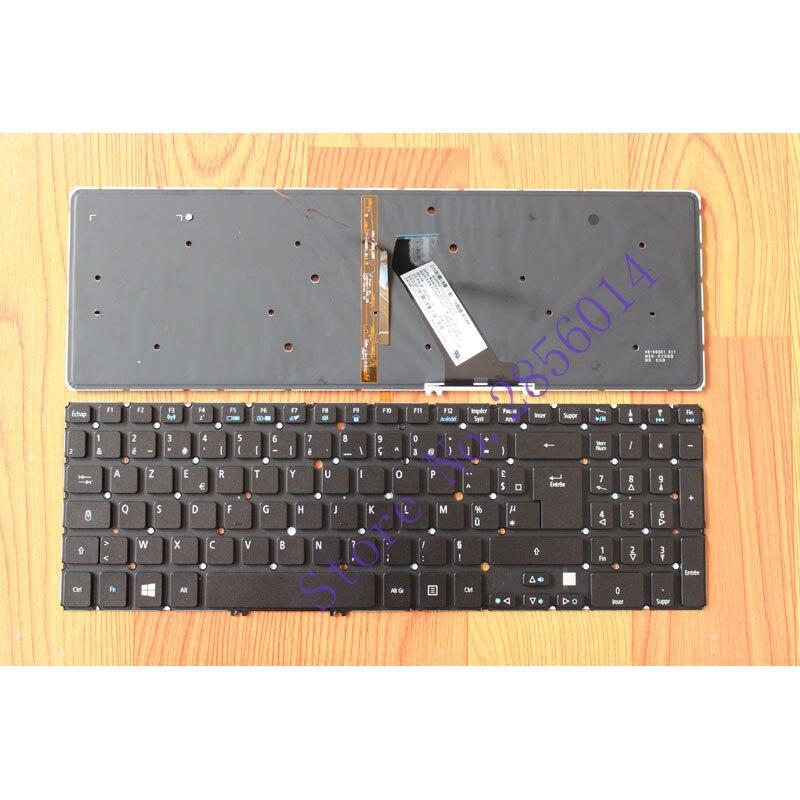 Teclado francés para ordenador portátil, repuesto para Acer M5-581, M5-581G, M5-581T, serie FR, diseño negro