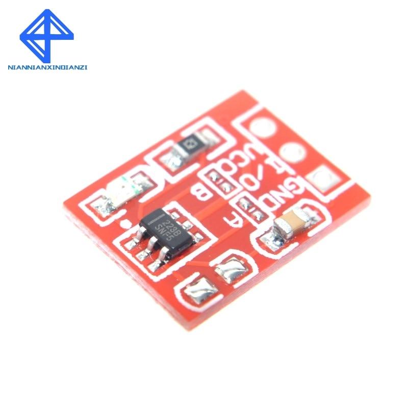 Модуль Сенсорного ключа TTP223, 50 шт., сенсорная кнопка, самоблокирующийся/без блокировки, емкостные переключатели, одноканальная реконструкц...