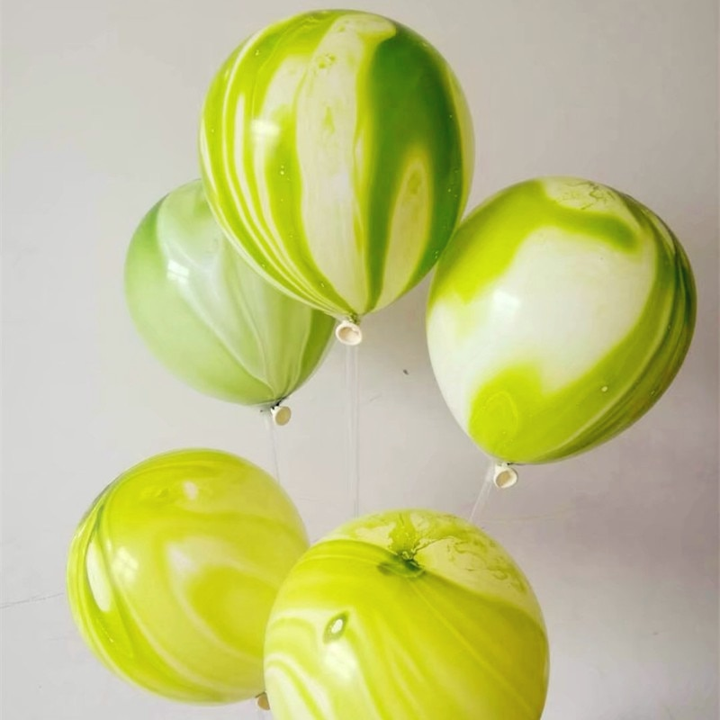 Christmas decoration green agate ballon 30pcs/lot12 inch thick round latex balloons helium gas for kids birthday party supplies