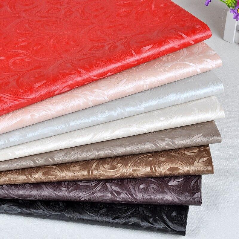 Piezas de cuero con relieve Semi Pu para muebles, Textiles artesanales de...
