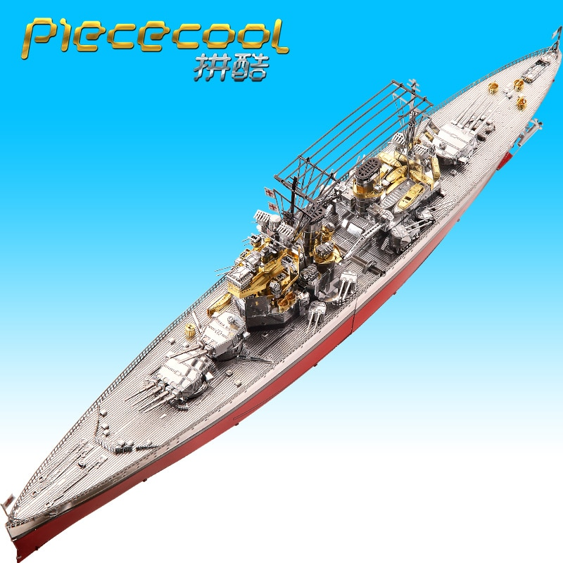 Piececool 3D puzzle metal model toys HMS PRINCE OF WALES P112-RSG jigsaw kits war Battleship Main force of the British Navy