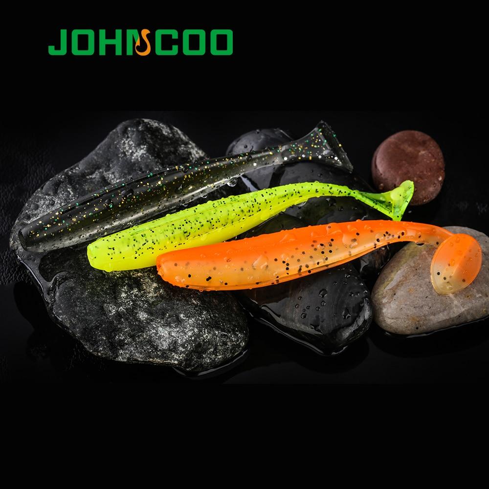 Señuelo de silicona de Shad, cebo blando, señuelo de pesca de cola en T de 65mm/1,85g 90mm/4,6g Swimbait Wobblers, señuelo de Lucio de alta calidad