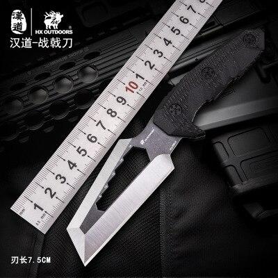 HX AO AR LIVRE Equipamento de Sobrevivência do exército Tático Portátil faca alta dureza faca de caça reta faca essencial ferramenta de auto-defesa CS IR
