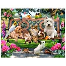 Animal Paradise 5D Diamond DIY Painting Cross Stitch Handmade Crafts Home Decor Part Diamond Painting Wall Hanging