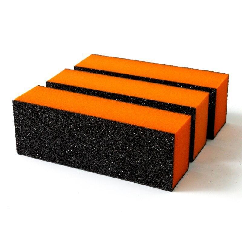3 шт. черная губка для дизайна ногтей, буфер, УФ-гель, полировка, шлифовальная буферизация, наждачный маникюр, наждачный маникюр, инструменты