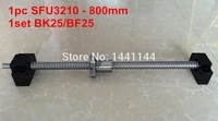 sfu3210 800mm ballscrew ball nut with end machined bk25bf25 support