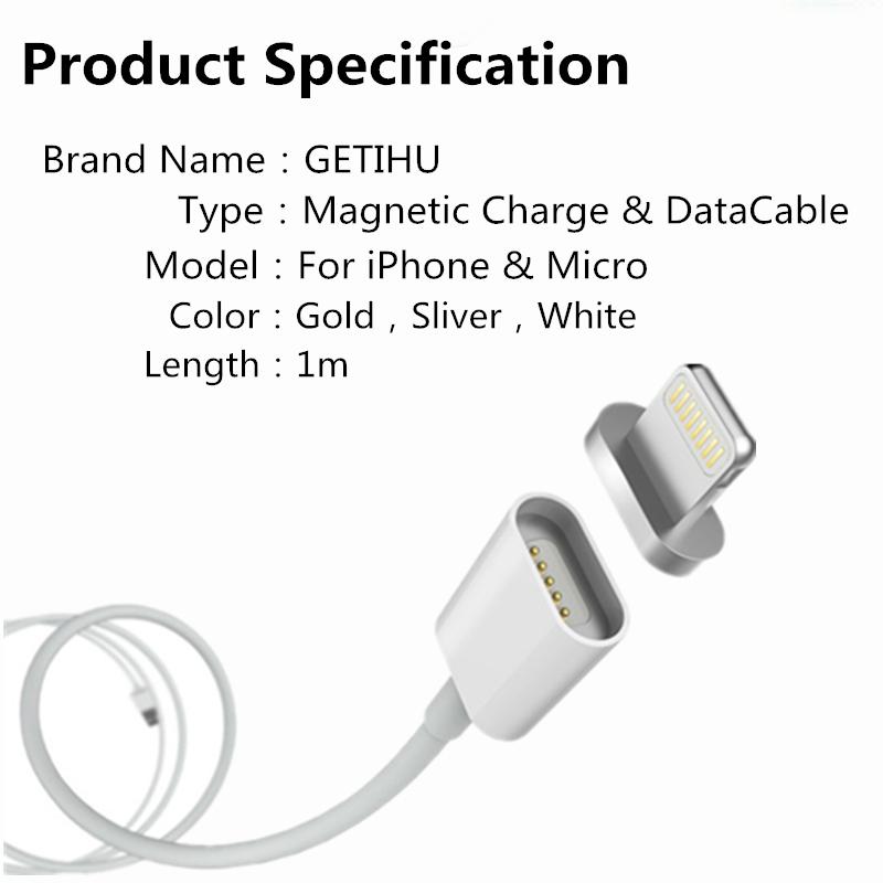 2.4a ładowania kabel do samsung apple iphone 5 5s 6 magnetyczne 6 s 7 plus ipad telefon komórkowy magnet ładowarka micro usb charge kabel 1