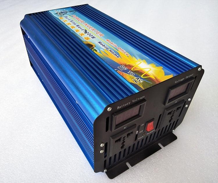 Pantalla de voltaje 3KW 3000W inversor de onda sinusoidal pura DC36V a CA 220v potencia máxima 6000W