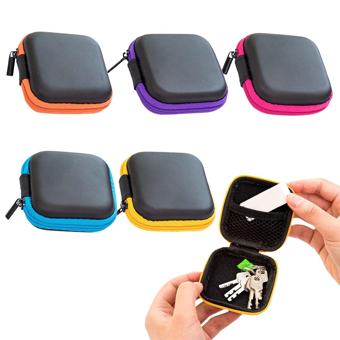 Mini Simple Earbuds Earphone Zipper Bag EVA Cute Headphone Hard Cover Earphone Case Protective Usb Cable Organizer Headset Bags