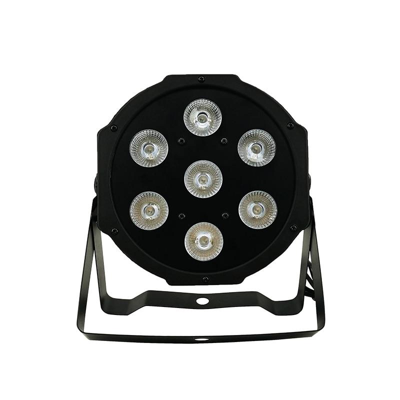 SHEHDS Lyre 7x12W RGBW LED Par Light مع DMX512 4 في 1 ، مصباح غسيل المسرح لأضواء الديسكو DJ ، معدات المسرح