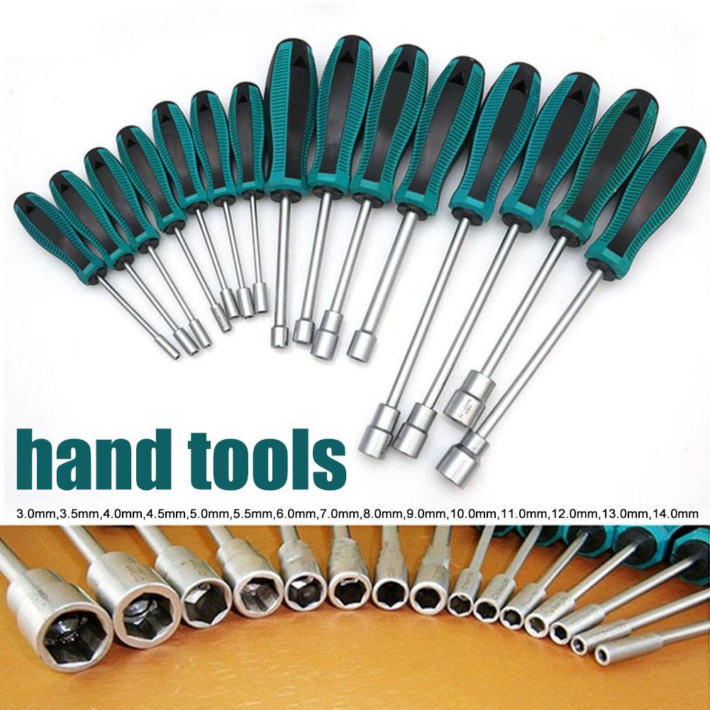 Torx universal conjunto de soquete chave chave de fenda 3mm-14mm metal hex porca chave ferramenta manual chave de fenda para ferramentas domésticas 1 pçs
