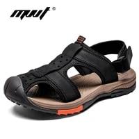 plus size handmade men sandals genuine leather men summer shoes classics comfort beach sandals hombre anti skid men sandalias