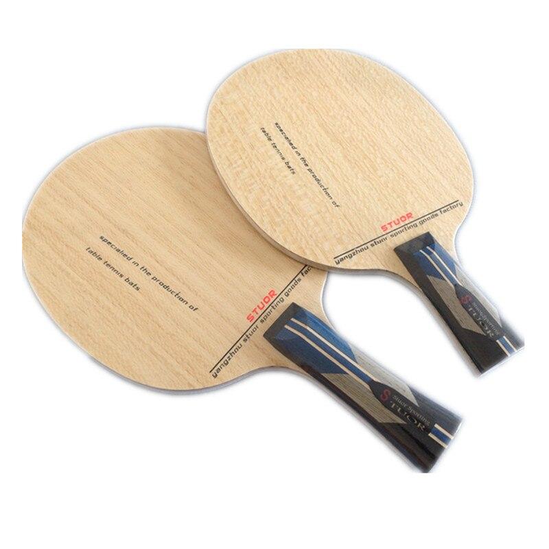 Stuor/Situo raqueta de tenis de mesa de base de 7 capas ZLC carbono negro vidrioso Paulownia gran núcleo