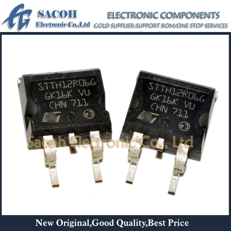 Free shipping 10Pcs STTH12R06G STTH12R06D STTH12R06DI STTH12R06FP TO-263 12A 600V Ultrafast high voltage rectifier
