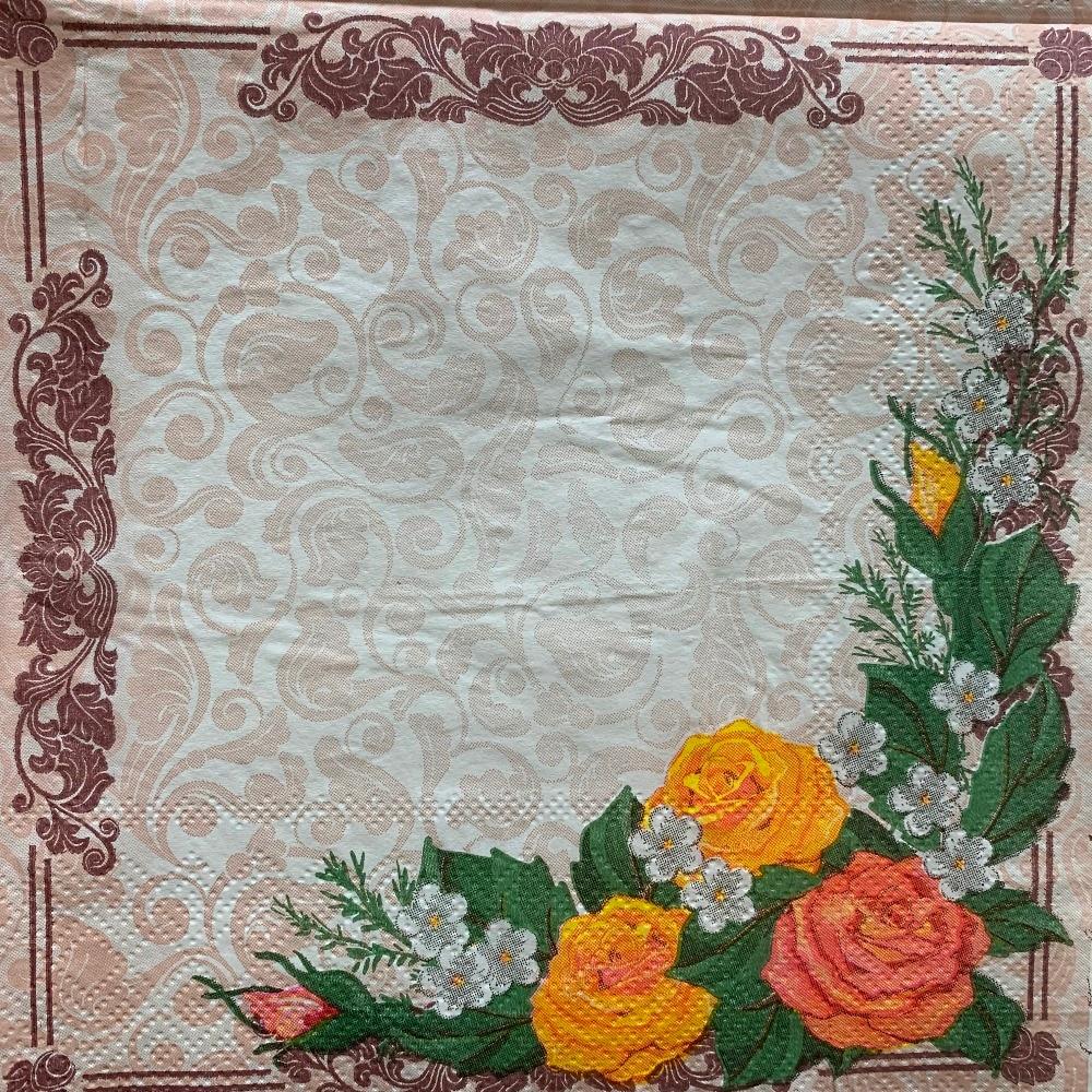 20 servilleta retro papel elegante pañuelo de tejido rojo y azul o naranja blanco decoupage de flores servilletas de la boda decoración del hogar