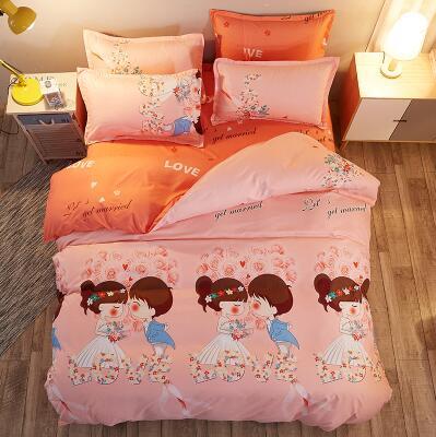 طقم أغطية سرير بطبعة الدب القطبي للأطفال ، منسوجات منزلية ، غطاء لحاف ، ملاءة ، غطاء وسادة