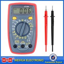 WHDZ DT33B Backlight Buzzer Portable Mini Digital Multimeter Protection AC DC Ammeter Voltmeter Ohm Meter Data Hold Battery Test