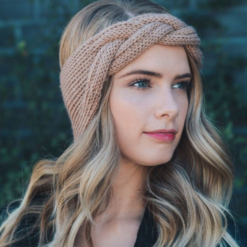 2019 Headband Knit Braided Solid Headbands Vintage Cross Knot Elastic Hairbands Bandanas Girls Twist