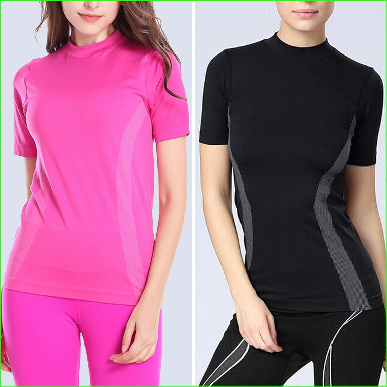 WST04 Dry Quick gym T Shirt  compression tights women's Sport T Shirts Sport Wear Women Running Short Sleeve T-shirts