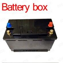 Batterij doos met 2 usb-poorten sigarettenaansteker voltage display voor 12 v 24 V 50A 100A 150A lifepo4 li ion LTO loodaccu