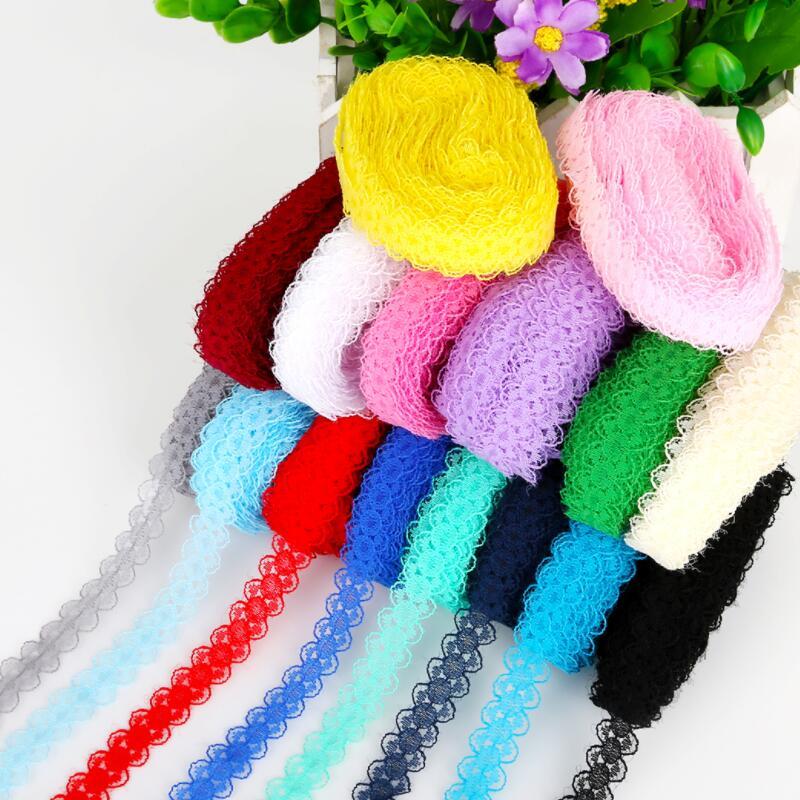 Cinta de encaje bordada de 20 yardas, 15mm, 19 colores en Stock, adornos de encaje para manualidades, artesanía, tela de encaje, cinta, accesorios para falda