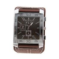 Часы наручные кварцевые унисекс, Модные Аналоговые стильные элегантные белые с кожаным ремешком, с квадратным циферблатом