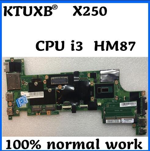 KTUXB VIUX1 NM-A091 placa base para Lenovo X250 notebook placa base HM87 CPU i3 5005U DDR3 100% trabajo de prueba