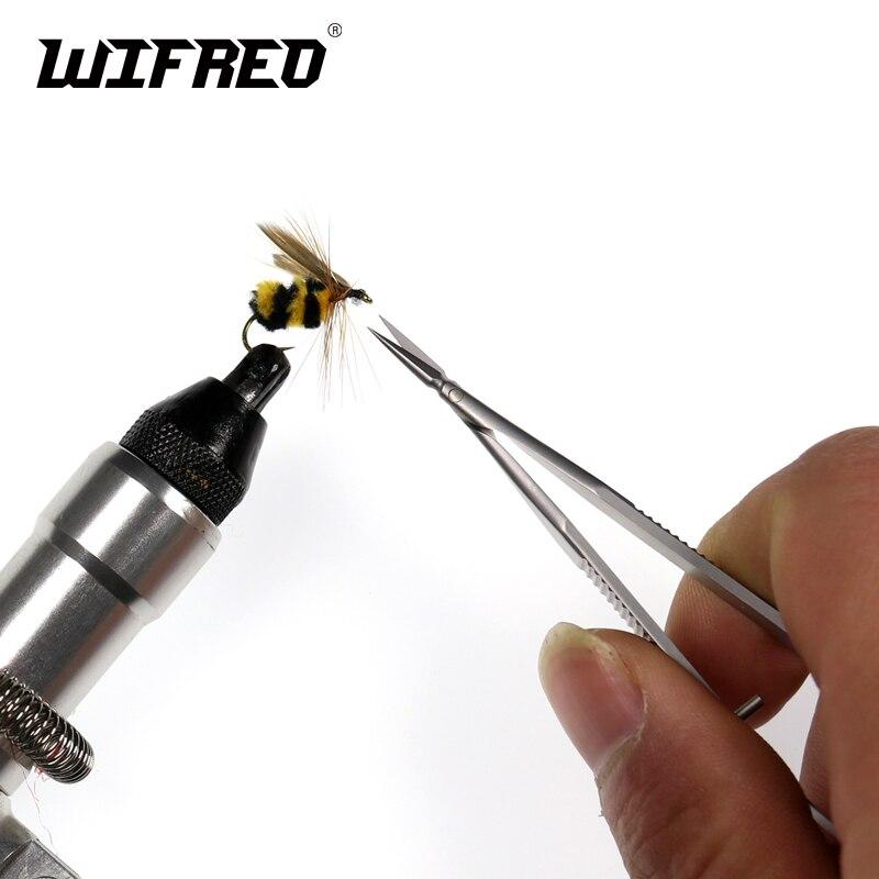 Wifreo 11cm 1 Micro pointe en acier inoxydable mouche attacher ciseaux pointus & petits ciseaux de coupe pour la pêche à la mouche nymphe sec mouche Streamer