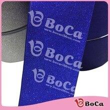 "wholesale 3"" 75mm BOCA solid glitter powder grosgrain ribbon with  100 % polyester  , DIY handmade material  25Yards"